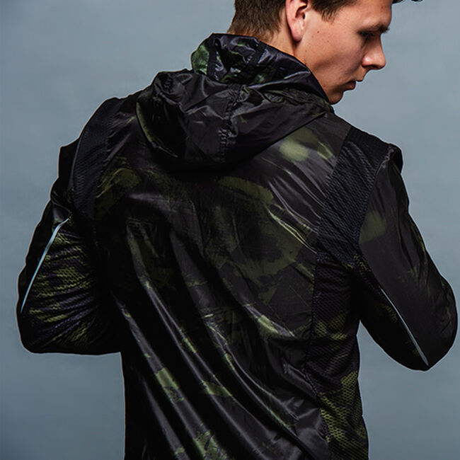 Feather running jacket men's